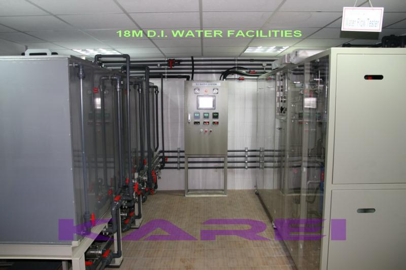 18 MOhm DI WATER SYSTEM